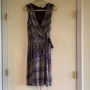 Silky Tory Burch wrap dress size S self belted